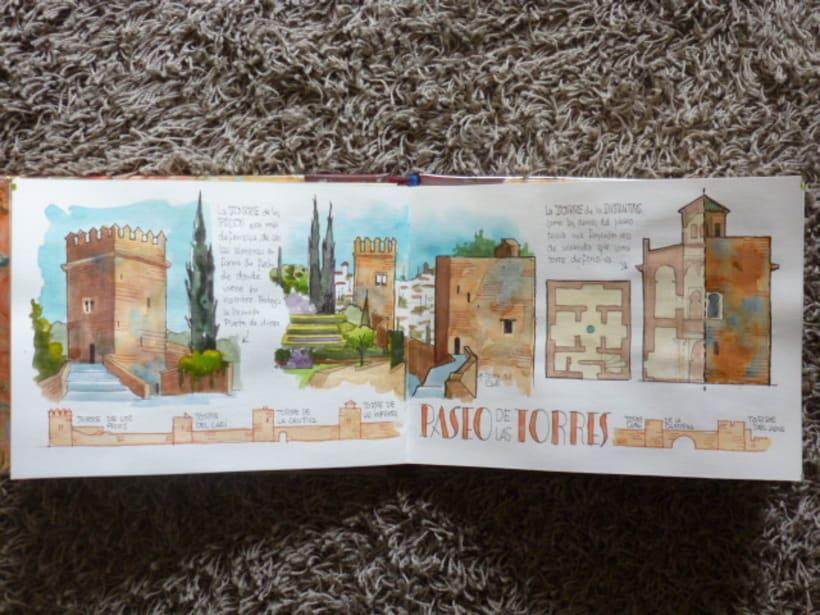 Libro de acuarelas de Granada 13