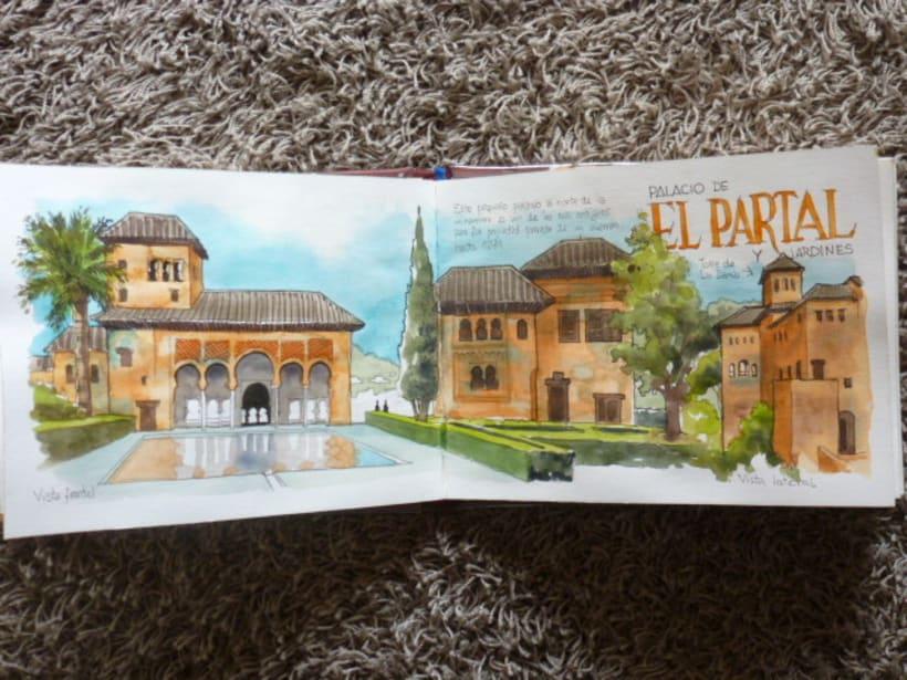 Libro de acuarelas de Granada 14