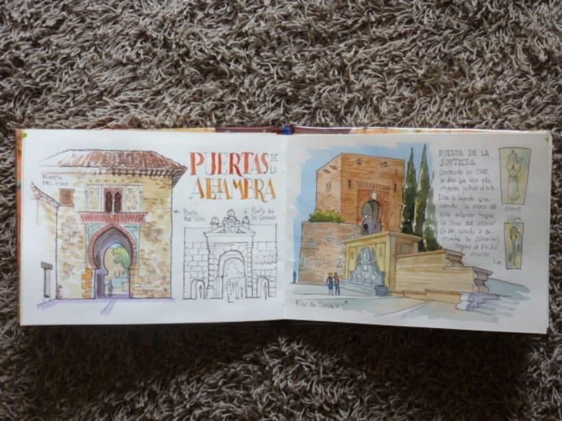 Libro de acuarelas de Granada 17