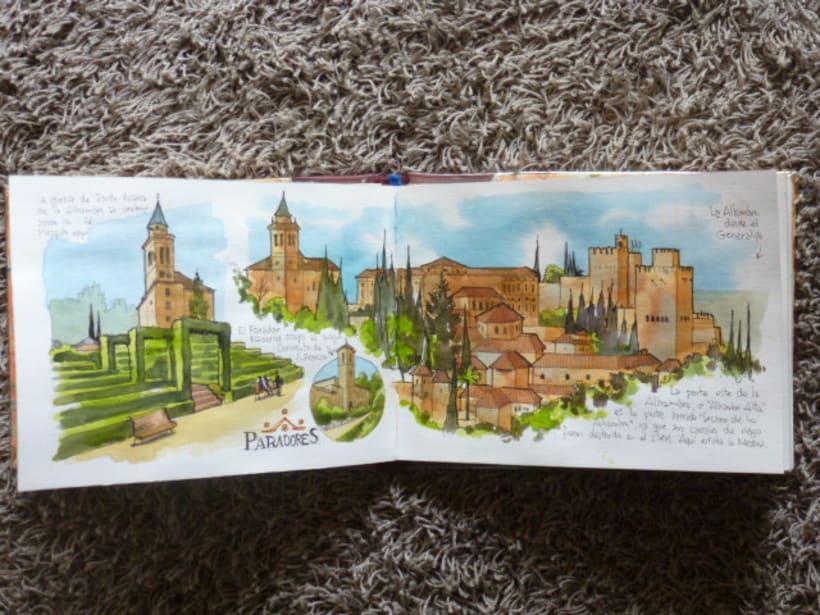 Libro de acuarelas de Granada 19