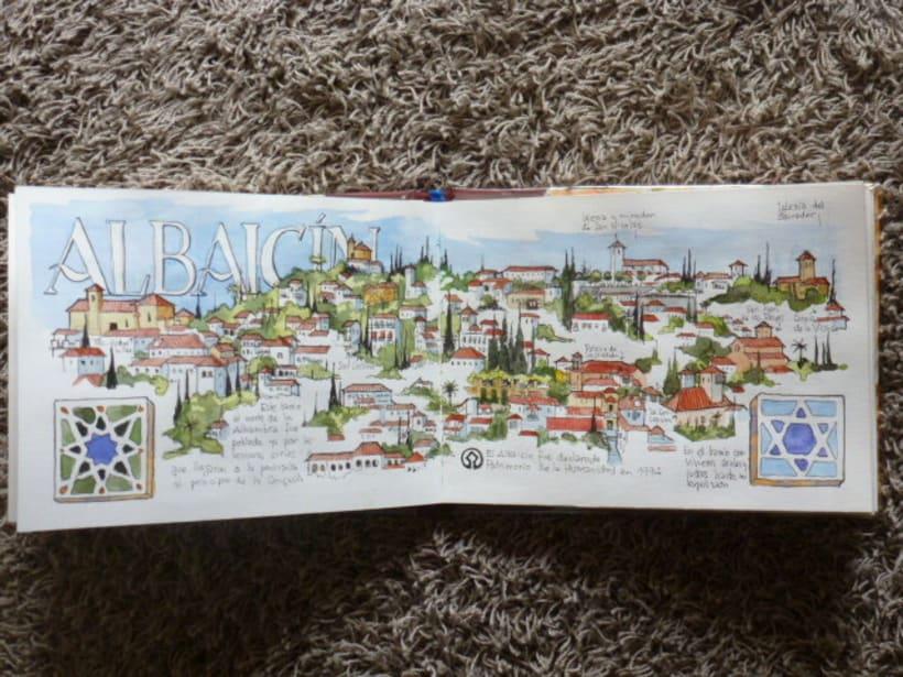 Libro de acuarelas de Granada 21