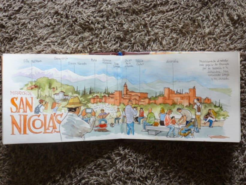 Libro de acuarelas de Granada 23