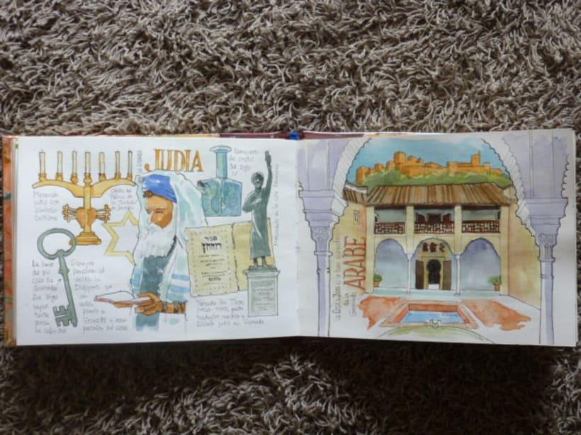 Libro de acuarelas de Granada 24