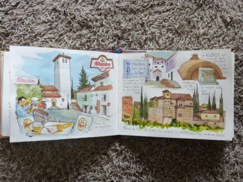 Libro de acuarelas de Granada 25