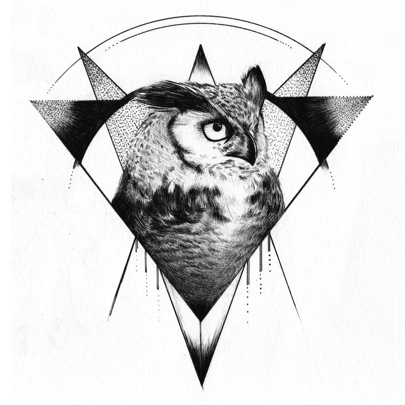 Geometric Owl 0