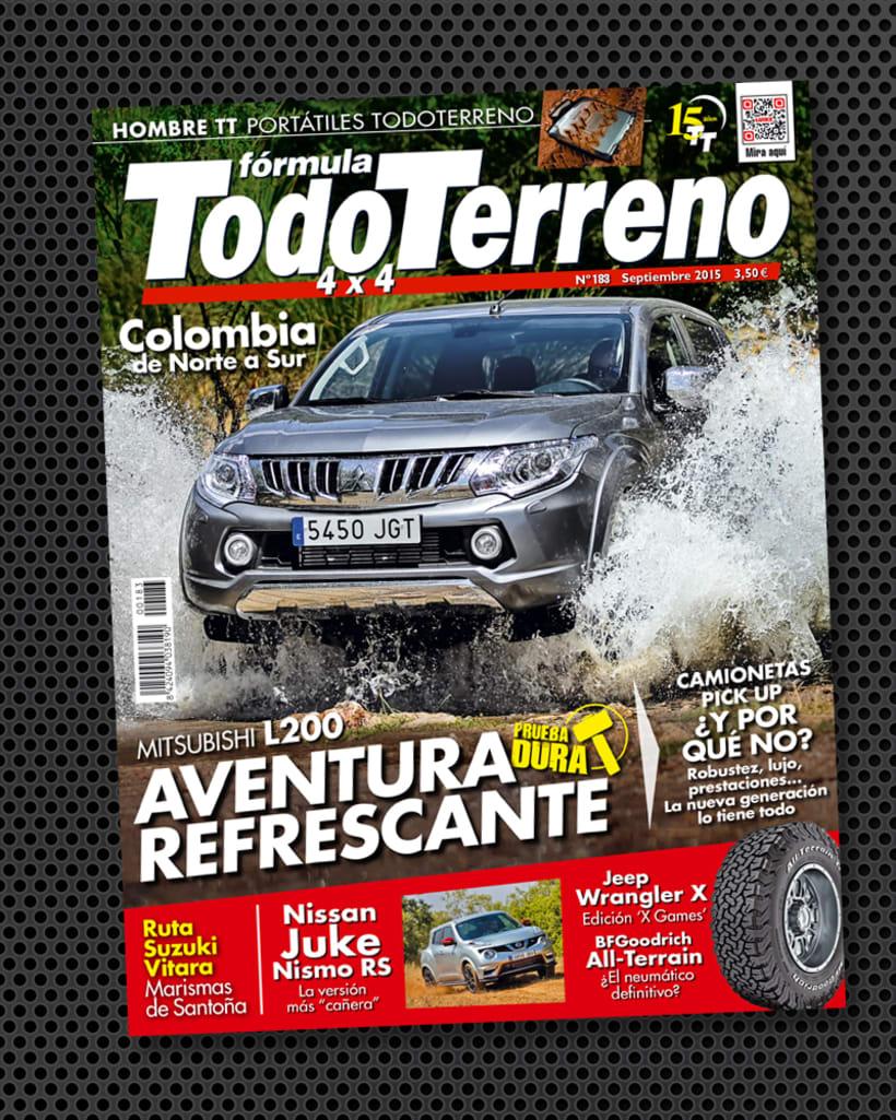 Diseño portada de la revista TodoTerreno 1
