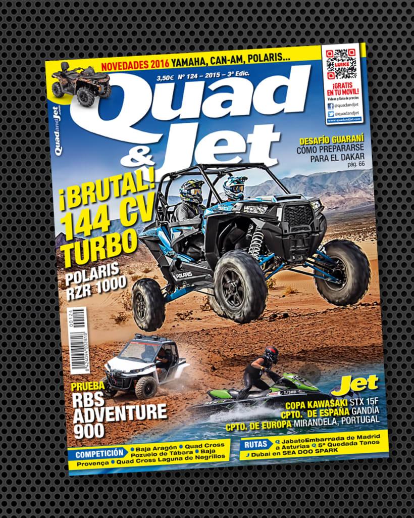 Diseño de portada de la revista Quad & Jet 1
