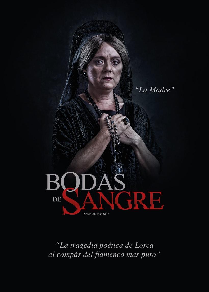 """Creatividad y diseño obra de teatro """"Bodas de Sangre de Lorca"""", para Saga Producciones 0"""
