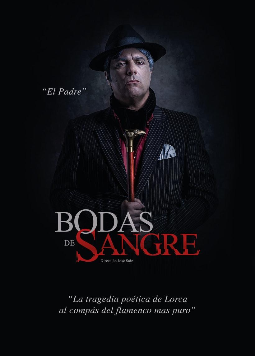 """Creatividad y diseño obra de teatro """"Bodas de Sangre de Lorca"""", para Saga Producciones 1"""