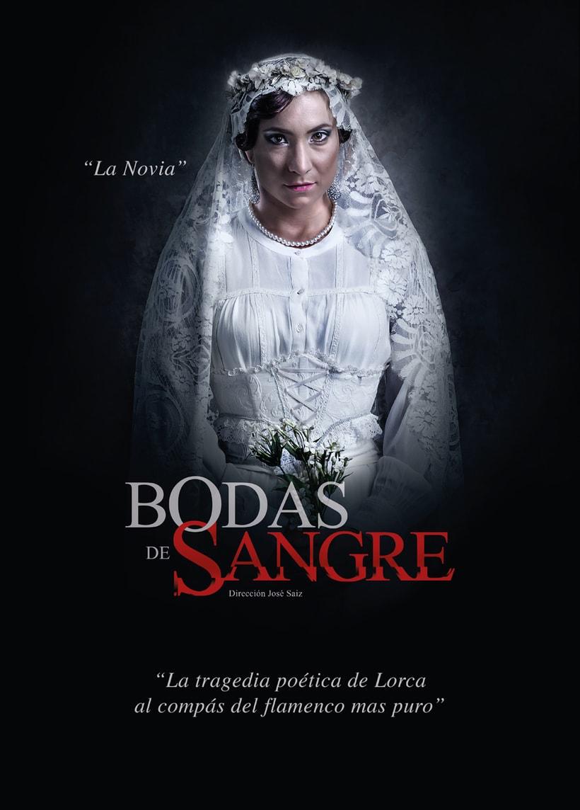 """Creatividad y diseño obra de teatro """"Bodas de Sangre de Lorca"""", para Saga Producciones 2"""