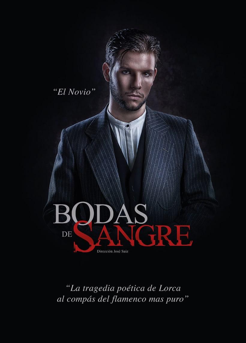 """Creatividad y diseño obra de teatro """"Bodas de Sangre de Lorca"""", para Saga Producciones 3"""