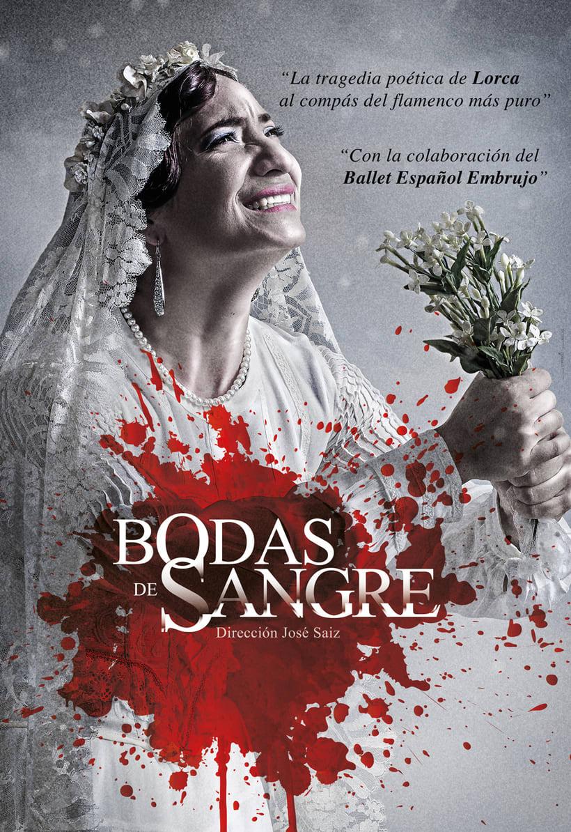 """Creatividad y diseño obra de teatro """"Bodas de Sangre de Lorca"""", para Saga Producciones 4"""