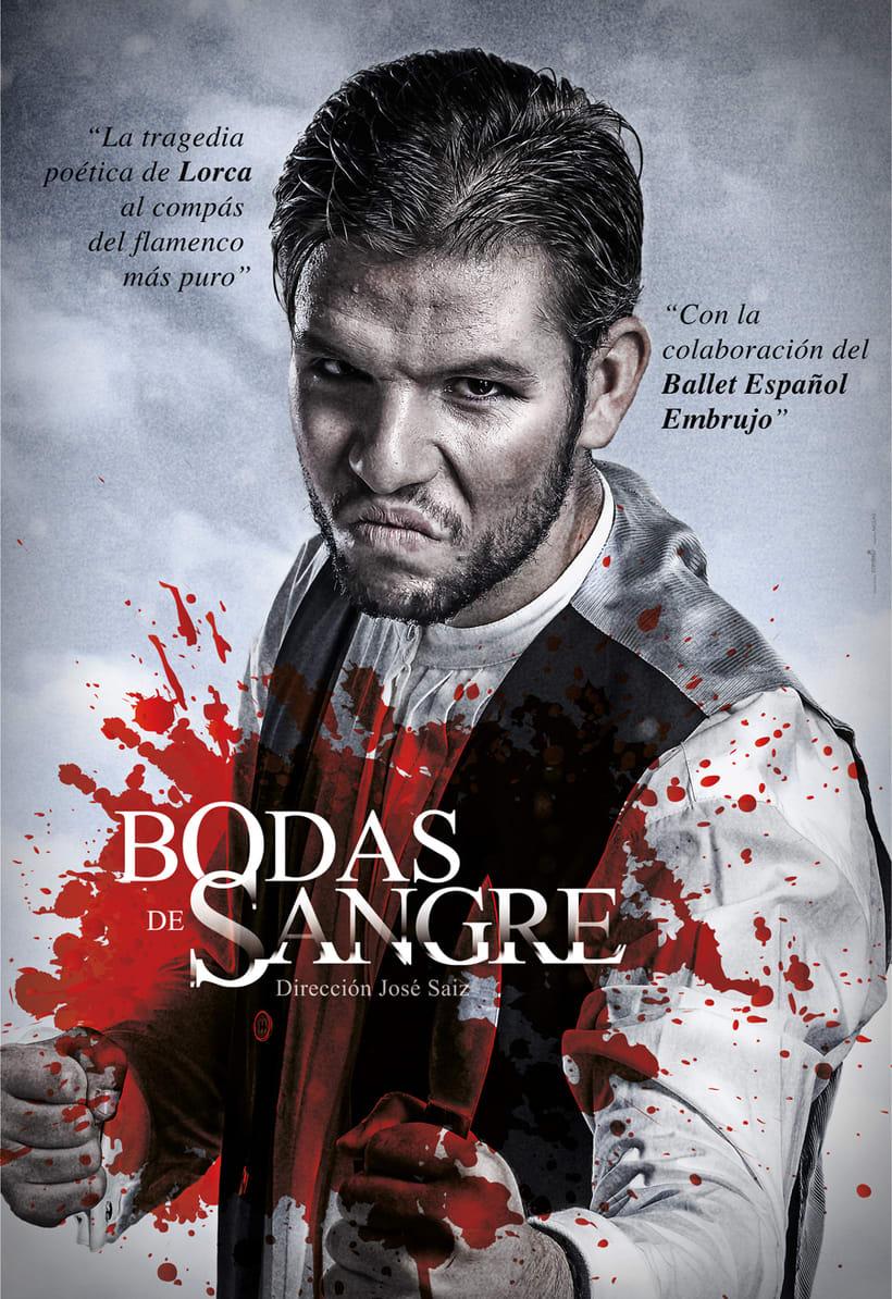 """Creatividad y diseño obra de teatro """"Bodas de Sangre de Lorca"""", para Saga Producciones 5"""