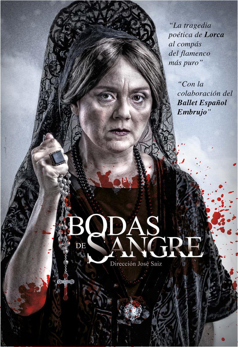 """Creatividad y diseño obra de teatro """"Bodas de Sangre de Lorca"""", para Saga Producciones 6"""