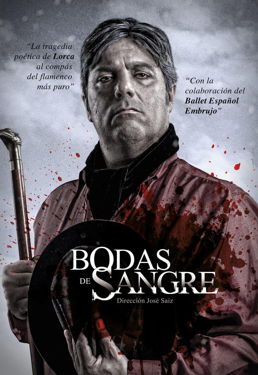 """Creatividad y diseño obra de teatro """"Bodas de Sangre de Lorca"""", para Saga Producciones 7"""