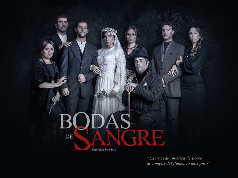 """Creatividad y diseño obra de teatro """"Bodas de Sangre de Lorca"""", para Saga Producciones 8"""