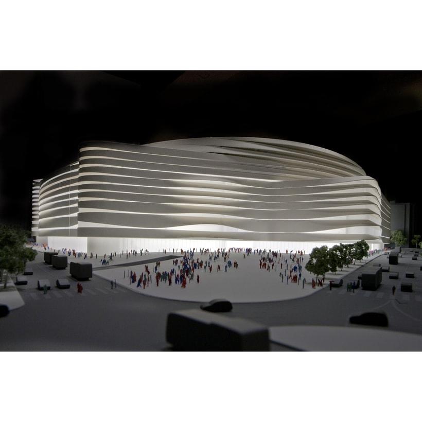 Maqueta del proyecto de Moneo + Herzog & de Meuron para el concurso del nuevo estadio Bernabeu -1