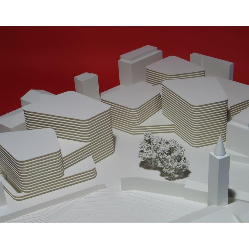 Maqueta para Mansilla + Tuñón del proyecto de concurso de un Centro Cultural en Ascona -1