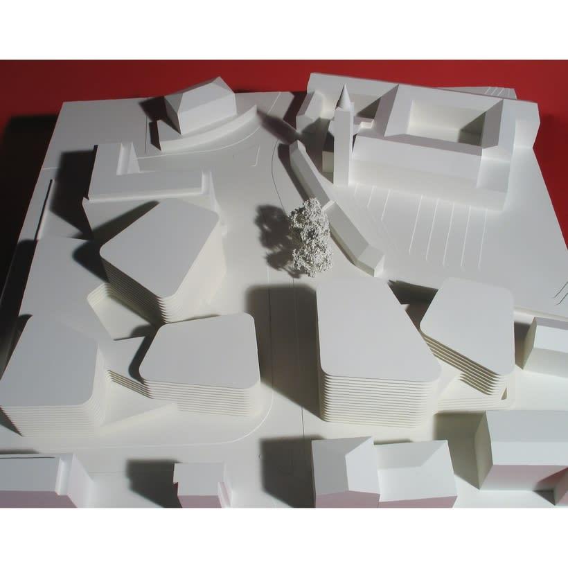 Maqueta para Mansilla + Tuñón del proyecto de concurso de un Centro Cultural en Ascona 0