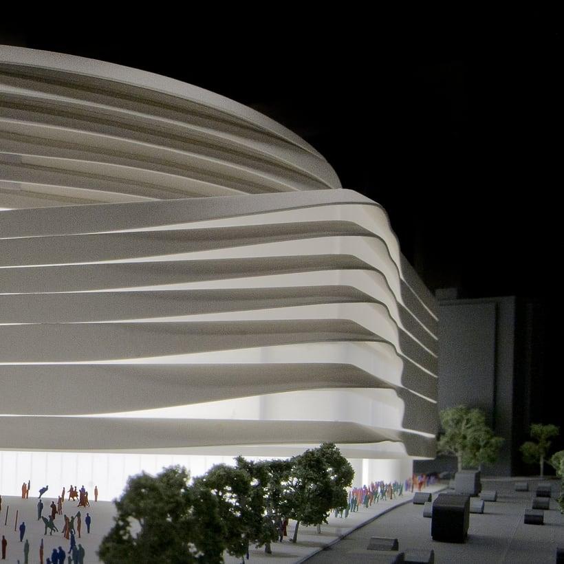 Maqueta del proyecto de Moneo + Herzog & de Meuron para el concurso del nuevo estadio Bernabeu 0