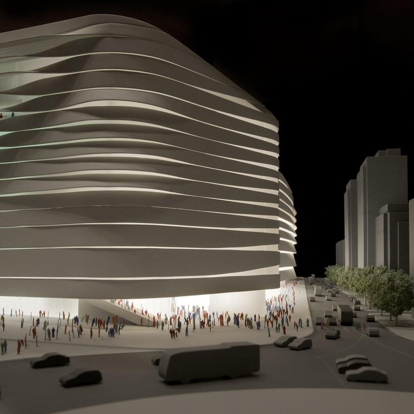 Maqueta del proyecto de Moneo + Herzog & de Meuron para el concurso del nuevo estadio Bernabeu 1