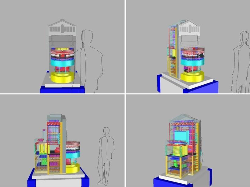 Maqueta robotizada de la caja escénica del Teatro Real  0