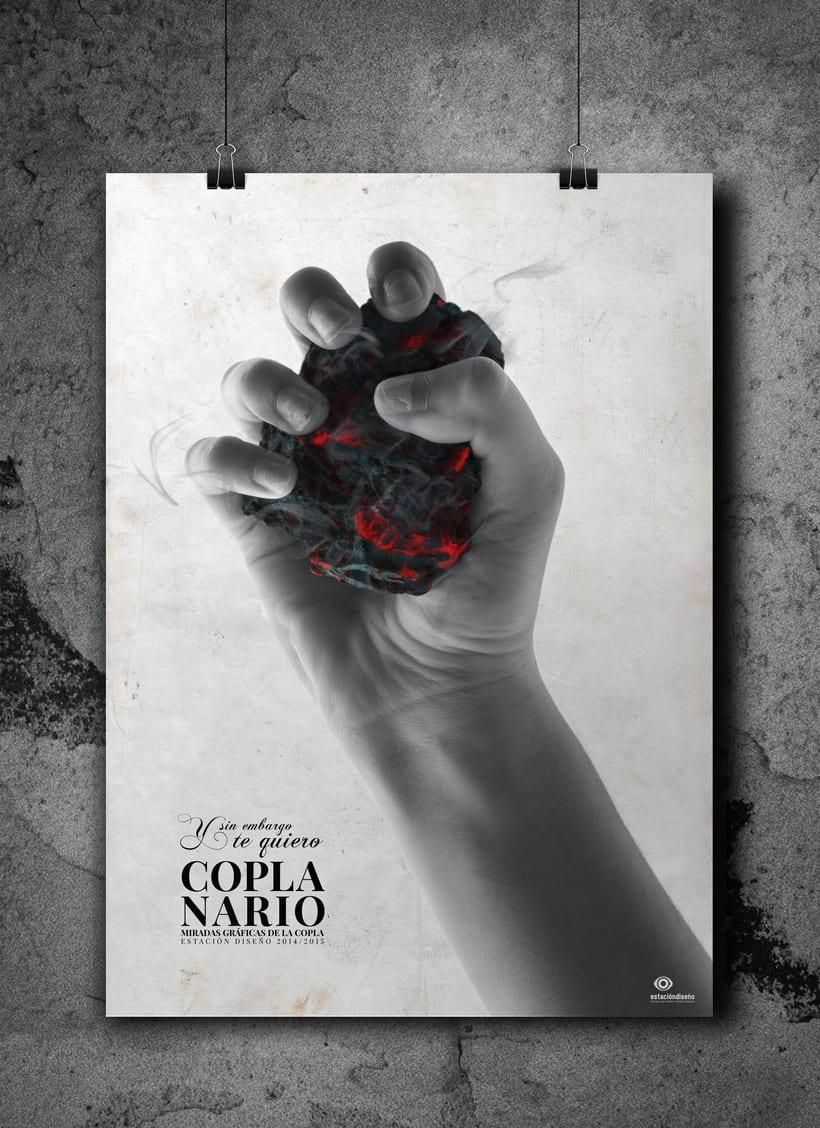 """Cartel para exposición """"Coplanario"""" 1"""