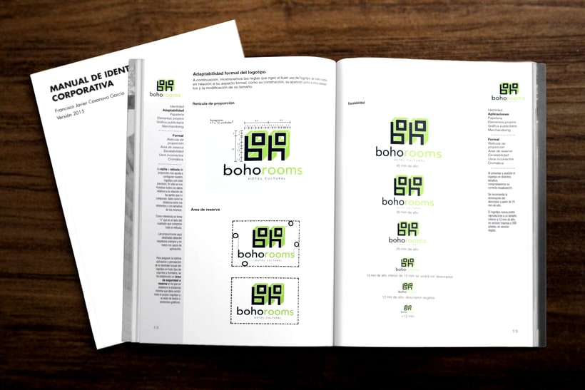 Identidad corporativa Boho Rooms. Manual de Identidad Corporativa 3
