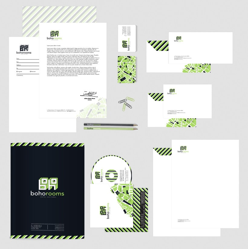 Identidad corporativa Boho Rooms. Manual de Identidad Corporativa 7