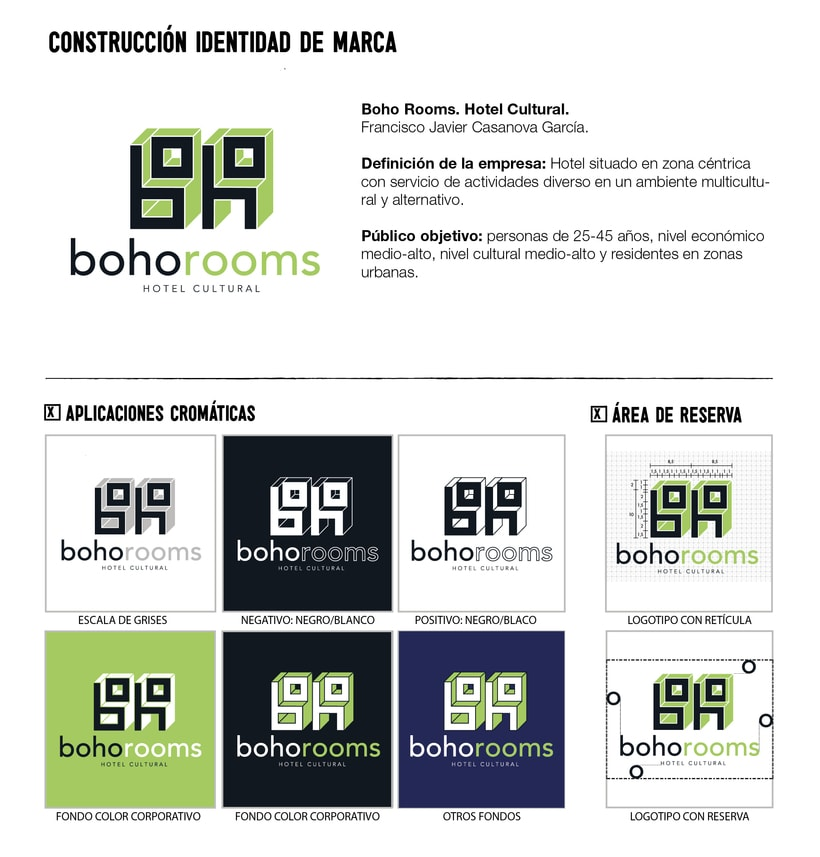 Identidad corporativa Boho Rooms. Manual de Identidad Corporativa 6