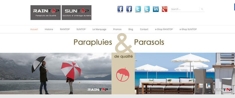 Parasoles SUNTOP & Paraguas RAINTOP 2