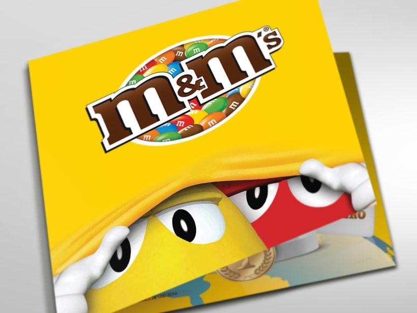 M&M Mega. Diseño materiales lanzamiento. 3