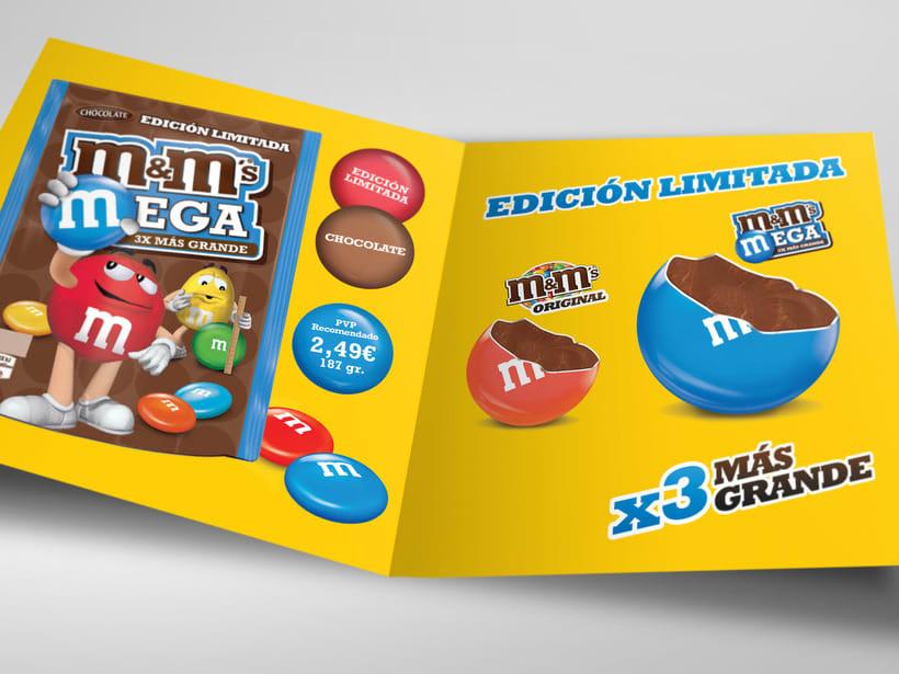 M&M Mega. Diseño materiales lanzamiento. 5