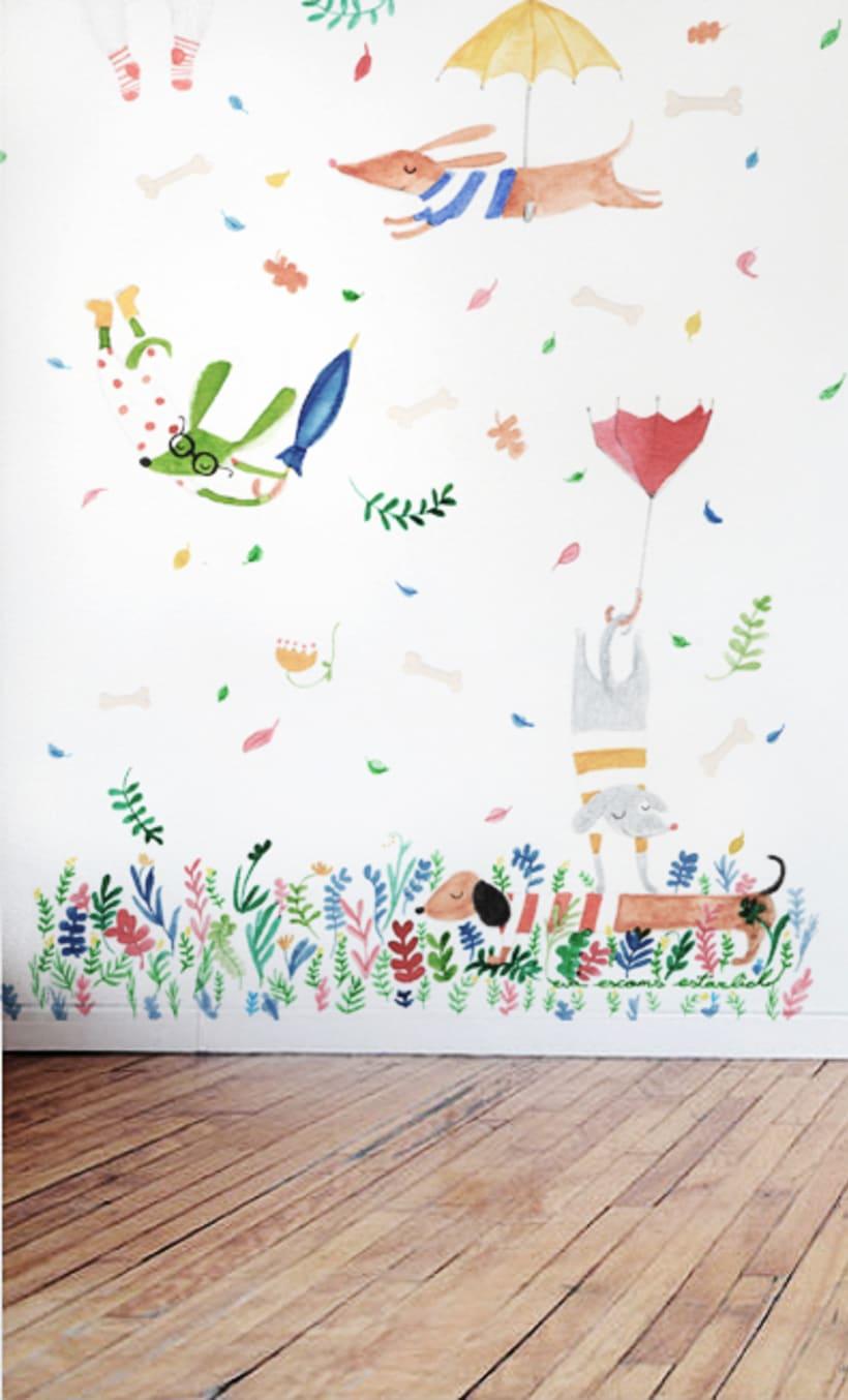 Wall Mural - Wall Ideas -  Kid's Room Walls  -1