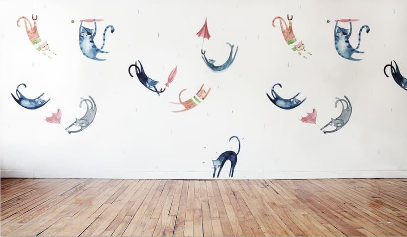 Wall Mural - Wall Ideas - Living Room Walls  -1