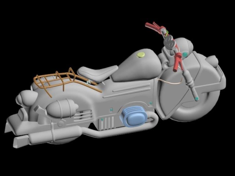 Moto Futurista en 3d Max y Vray -1