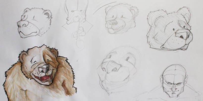 Ilustración pagina de cuento y amigos del bosque 0