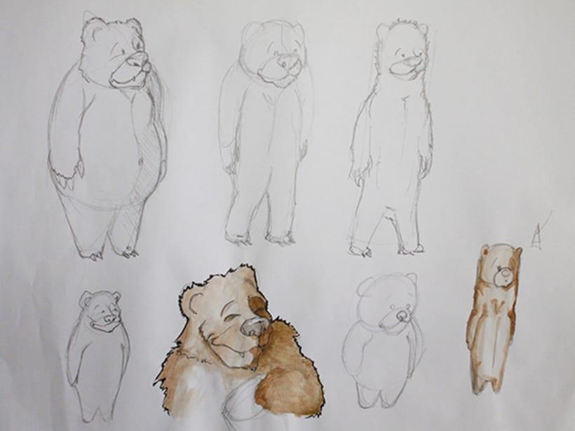 Ilustración pagina de cuento y amigos del bosque 1