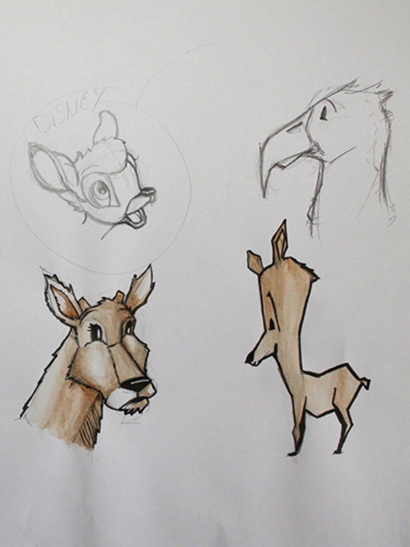 Ilustración pagina de cuento y amigos del bosque 6