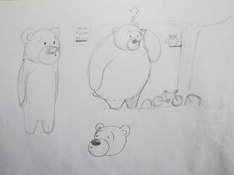 Ilustración pagina de cuento y amigos del bosque 2
