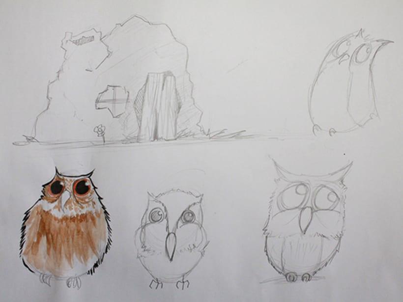 Ilustración pagina de cuento y amigos del bosque 7
