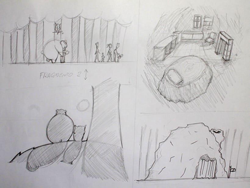 Ilustración pagina de cuento y amigos del bosque 5