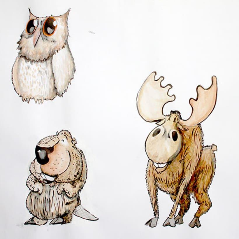 Ilustración pagina de cuento y amigos del bosque 8