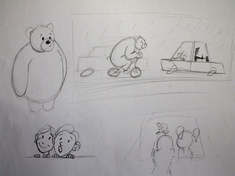 Ilustración pagina de cuento y amigos del bosque 4