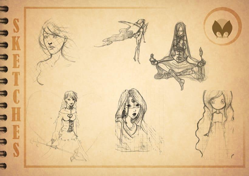 Bocetos manga 18