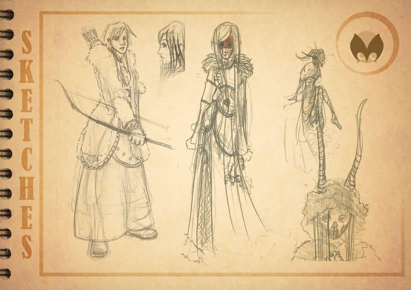 Bocetos manga 17