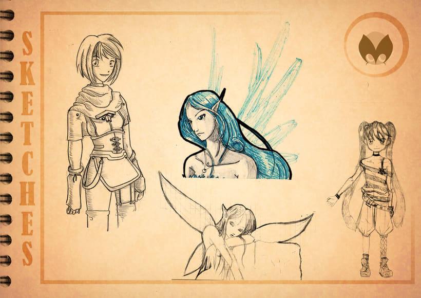 Bocetos manga 20