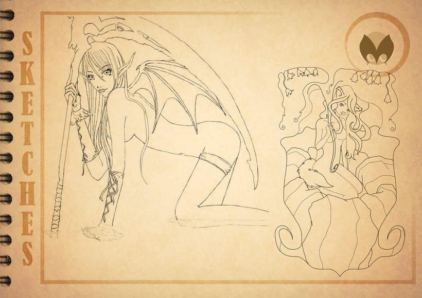 Bocetos manga 0
