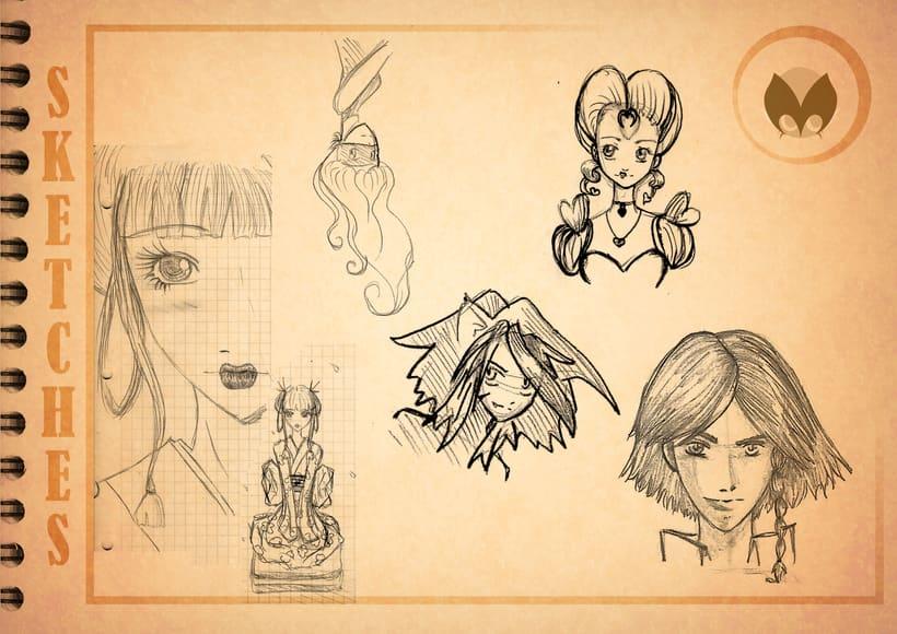 Bocetos manga 23