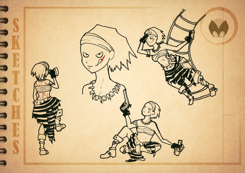 Bocetos manga 6